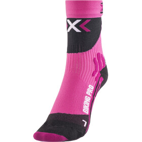 X-Socks Biking Pro Fietssokken Dames, fuxia/black